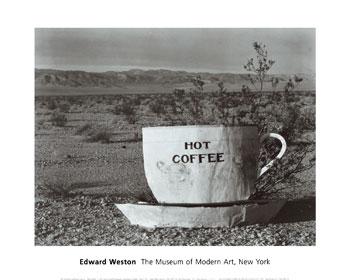 Café caliente, desierto Mojave, 1937 (Edward Weston)